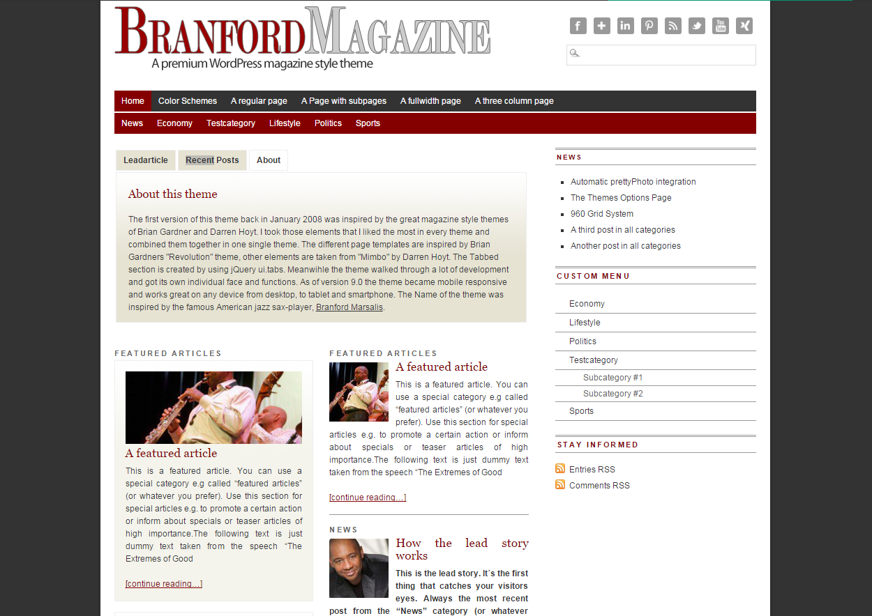 Branford Theme Wordpress