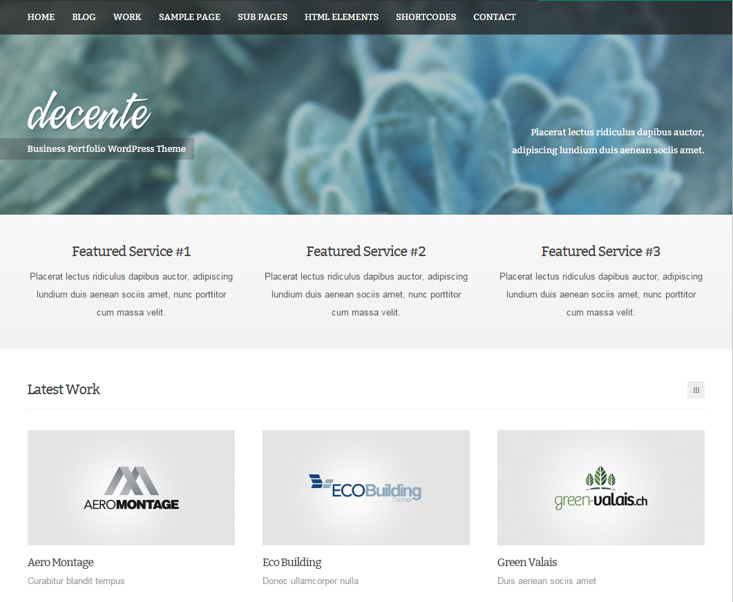 Decenter Theme Wordpress