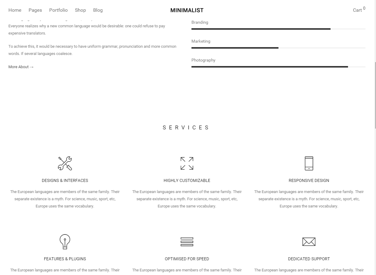 Minimalist Theme Wordpress