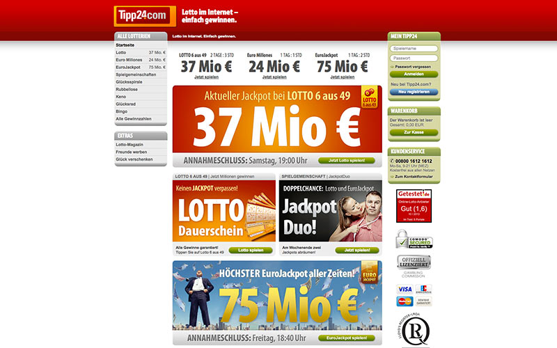Screenshot Tipp24.com