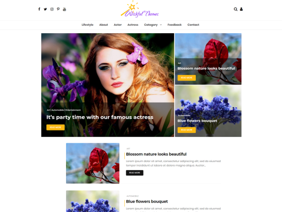 wordpress-theme-wishful blog